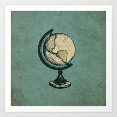 Travel On Art Print