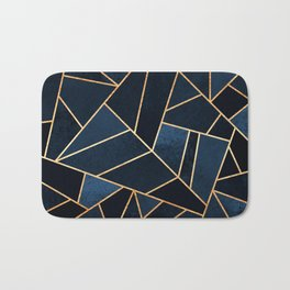 Navy Stone Bath Mat
