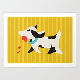 Zombie Dog Harriet Art Print