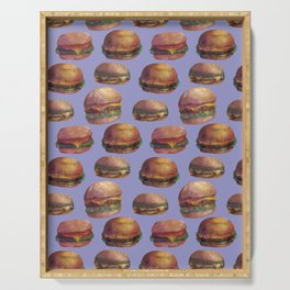 purple burger Serving Tray