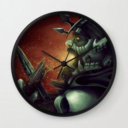 Undead warrior Wall Clock