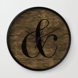 Didot Ampersand Wall Clock