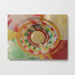 Assorted Hard Candies Abstract Metal Print