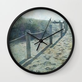 Old worlde beach scene Wall Clock