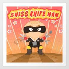 Swiss Knife Man Art Print