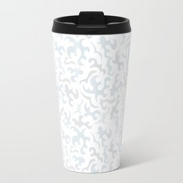 Abstrct pattern pale blue-grey Travel Mug