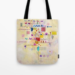 Wassily Kandinsky - Graceful ascent Tote Bag