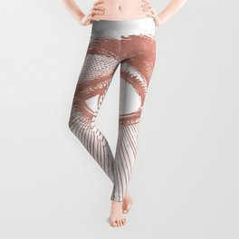 I see you. Rose Gold Pink Quartz on White Leggings