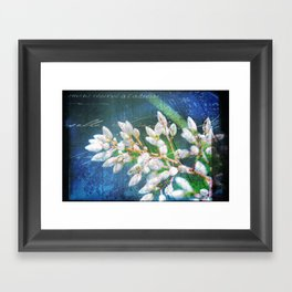 A Splash of Flowers Framed Art Print