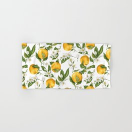 Citrus OrangeTree Branches with Flowers and Fruits Hand & Bath Towel