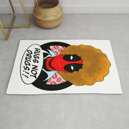 Hugs not Drugs Rug