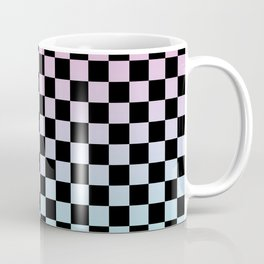 Pink and Blue Gradient Checkers Coffee Mug