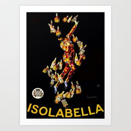 Vintage 1920's Leonetto Cappiello  IsolaBella Lithograph Advertising Wall Art Style 1 Art Print