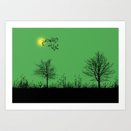 Green panorama Art Print