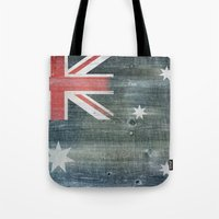australia Tote Bags featuring Australia by Arken25