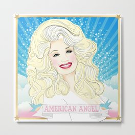Dolly Parton American Angel Metal Print