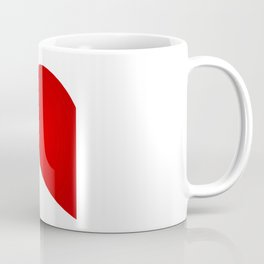 Half Heart Woman Coffee Mug