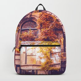 Dressed Up in Autumn - New York City Brownstones Backpack