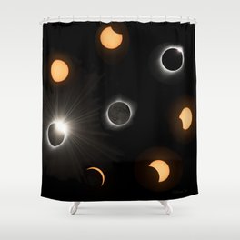 Solar Eclipse Shower Curtain