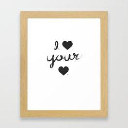 i heart your heart Framed Art Print