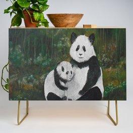 Panda Momma and Baby Credenza