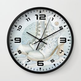 Christmas vintage ice skating #1 Wall Clock
