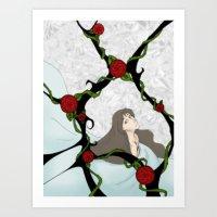 Color rosette Art Print