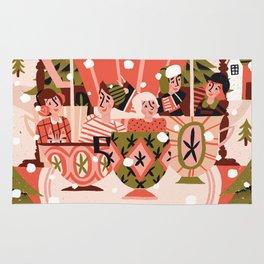 Christmas Coffee Carousel Rug