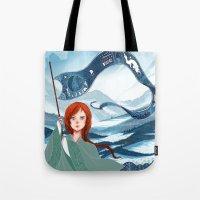 saga Tote Bags featuring The Banner Saga by Tori