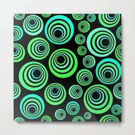 Neon blue and green Metal Print