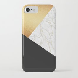 GOLDEN MARBLE TRIANGLE iPhone Case