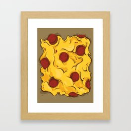 Center Piece a' Pizza Framed Art Print