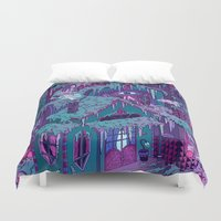 house Duvet Covers featuring December House by Valeriya Volkova