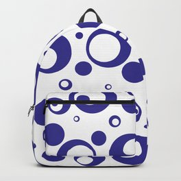 Circles Dots Bubbles :: Blueberry Inverse Backpack