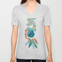 Sea Turtle - EYE Drain to the Sea Unisex V-Neck