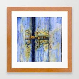 Rusty Lock Framed Art Print
