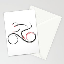 Geomissium - the bike rider Stationery Cards