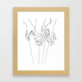 Invisible Hand Theory Framed Art Print