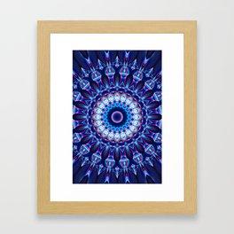 Mandala cosmic light Framed Art Print