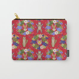 Khokhloma Forest Animals Carry-All Pouch