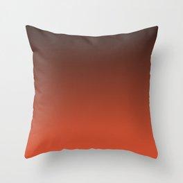 Black and orange. Gradient.  Ombre. Throw Pillow