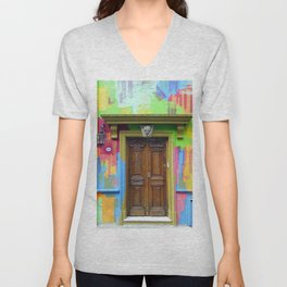 Painted Entrance, Palermo, Buenos Aires Unisex V-Neck