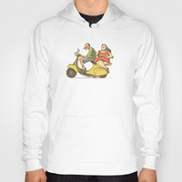 vespa Hoodies featuring Vespa by Yaeln