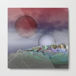 where two suns are shining Metal Print