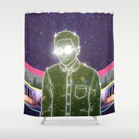 "tim burton Shower Curtains featuring ""Anything in Return"" by Tim Lukowiak by Consequence of Sound"