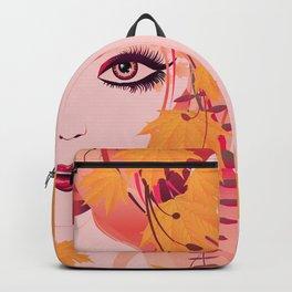 Autumn floral girl Backpack
