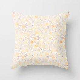 Floral watercolor orange pattern 2 Throw Pillow