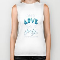 tfios Biker Tanks featuring TFIOS: Fell in Love by Jess Matthews Design