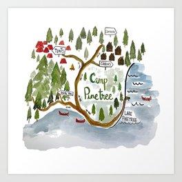 Map of Camp Pinetree Art Print