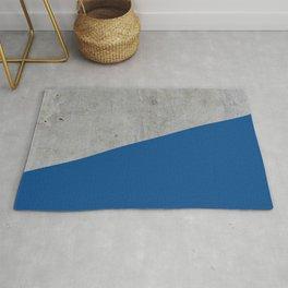 Concrete and Lapis Blue Color Rug